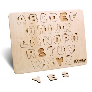 Деревянный алфавит Английский язык (Famby)