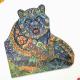 Деревянный фигурный пазл Могучий медведь