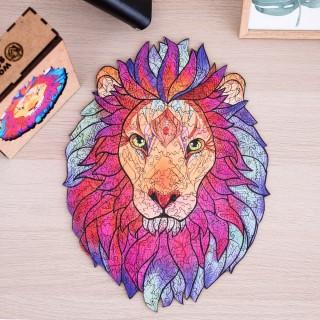 Деревянный фигурный пазл Король Лев