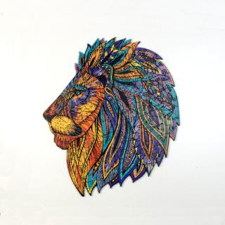 Деревянный фигурный пазл Легенда Льва