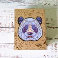 Деревянный фигурный пазл Удивительная Панда