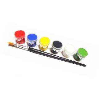 Краски акриловые 6 цветов
