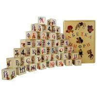Деревянные кубики-алфавит (Украинский язык) 35 штук