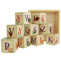 Деревянные кубики-алфавит (Английский язык) 9 штук