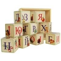 Деревянные кубики-алфавит (Украинский язык) 9 штук