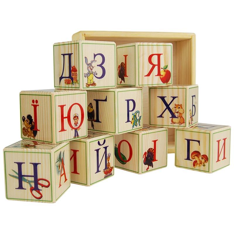 Деревянные кубики-алфавит (Украинский язык) 9 штук купить ...