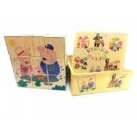 Деревянные кубики-пазлы (Peppa) 9 штук