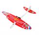 Самолет планер с моторчиком Красный
