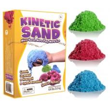 Цветной кинетический песок 3 кг (3 цвета по 1кг)