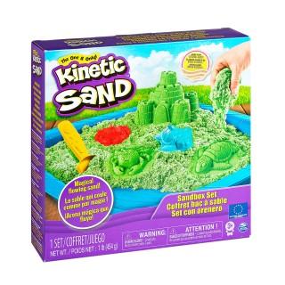 Кинетический песок набор Замок (Зеленый) 454г