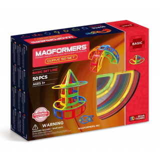 Magformers Базовый набор Curve (дуга) 50 элементов