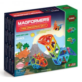 Magformers Mini Dinosaur Set, Маленькие Динозавры, 40 эл.