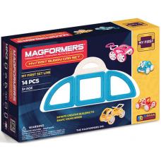 Magformers Мой первый голубой автомобиль, 14 эл.