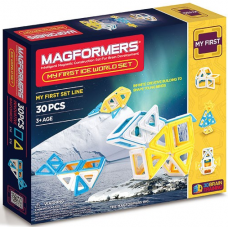 Магнитный конструктор Ледяной мир, 30 элементов