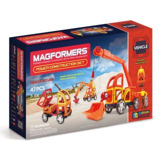 Magformers Power Construction Set, Cупер Стройтехника, 47 эл.