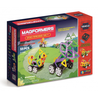Magformers Zoo Racing Set, Живой зоопарк, 55 эл.