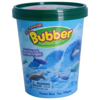 Смесь для лепки Bubber, синяя, ведёрко 0,2 кг