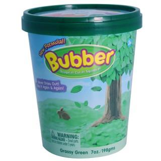 Смесь для лепки Bubber, зелёная, ведёрко 0,2 кг