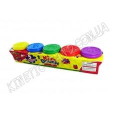 Пластилин Kid's Dough 5 цветов (аналог Play Doh)