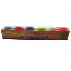 Пластилин Plasticine Magical 6 цветов (300г)