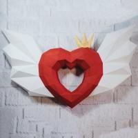 "Паперкрафт ""Ангельское сердце"""