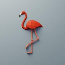 """Паперкрафт """"Фламинго"""""""