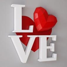 "Паперкрафт ""Love"""