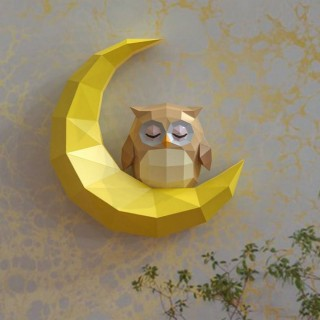 """Паперкрафт """"Сова на луне"""""""