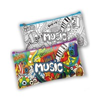Пенал-раскраска Music